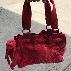 Juicy couture soft red bag!
